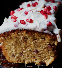 Pomegranate Cheese And Cake Words