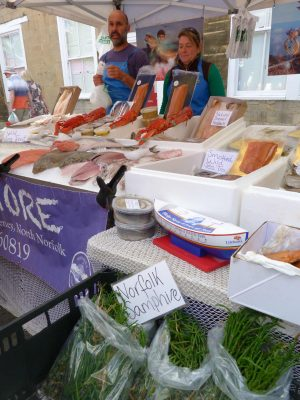 Fresh fish and samphire available at the festival