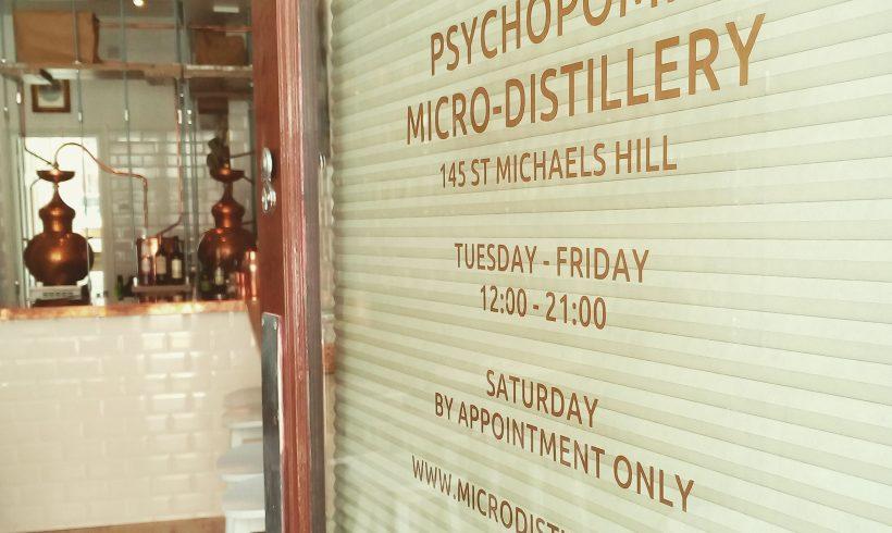 Psychopomp Micro Distillery front door