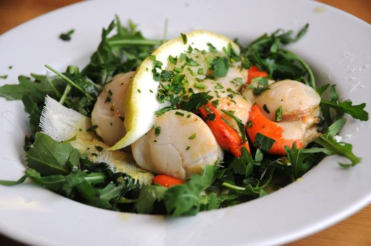 Delicious scallops from The Sea Tree