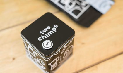 Two Chimps Coffee tin