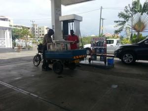 Grabbing Roti in petrol station